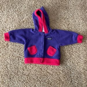 Baby Patagonia Fleece Button Up Sweater